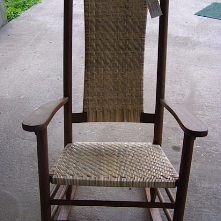 Rocker with Herringbone Pattern